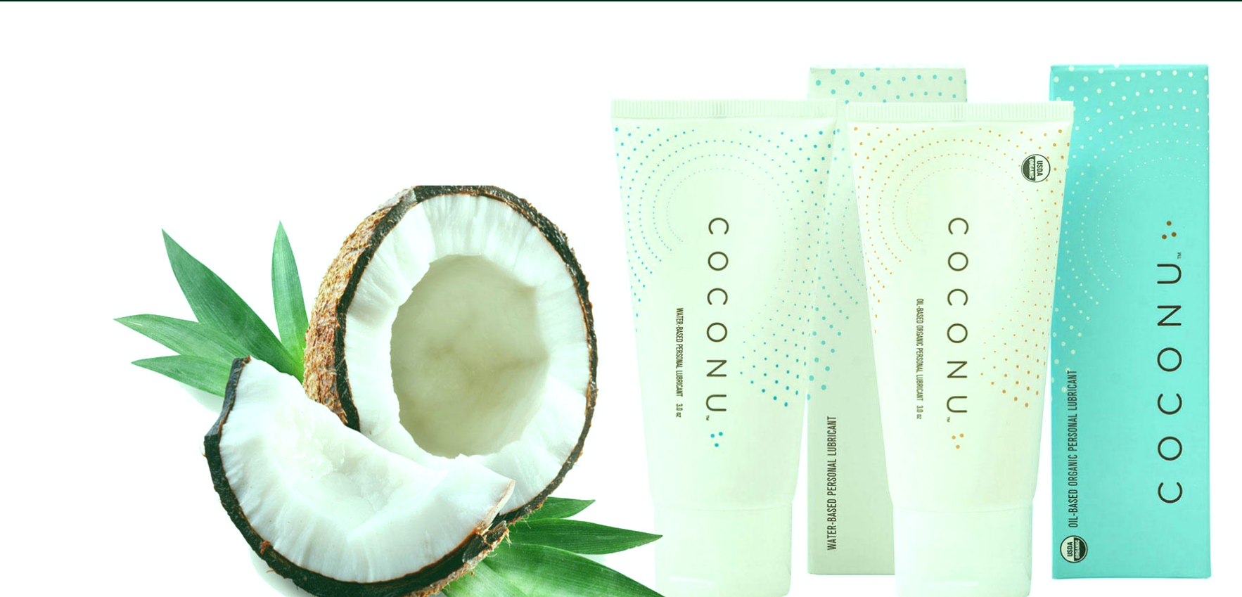Lubricantes naturales a base de aceite de coco.