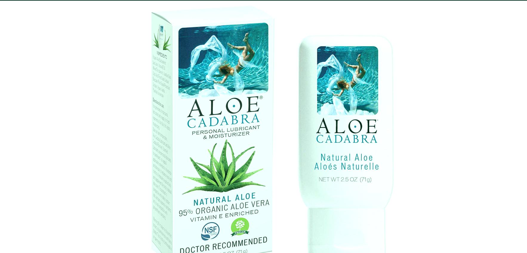 Lubricante personal orgánico natural de aloe vera y humectante vaginal.