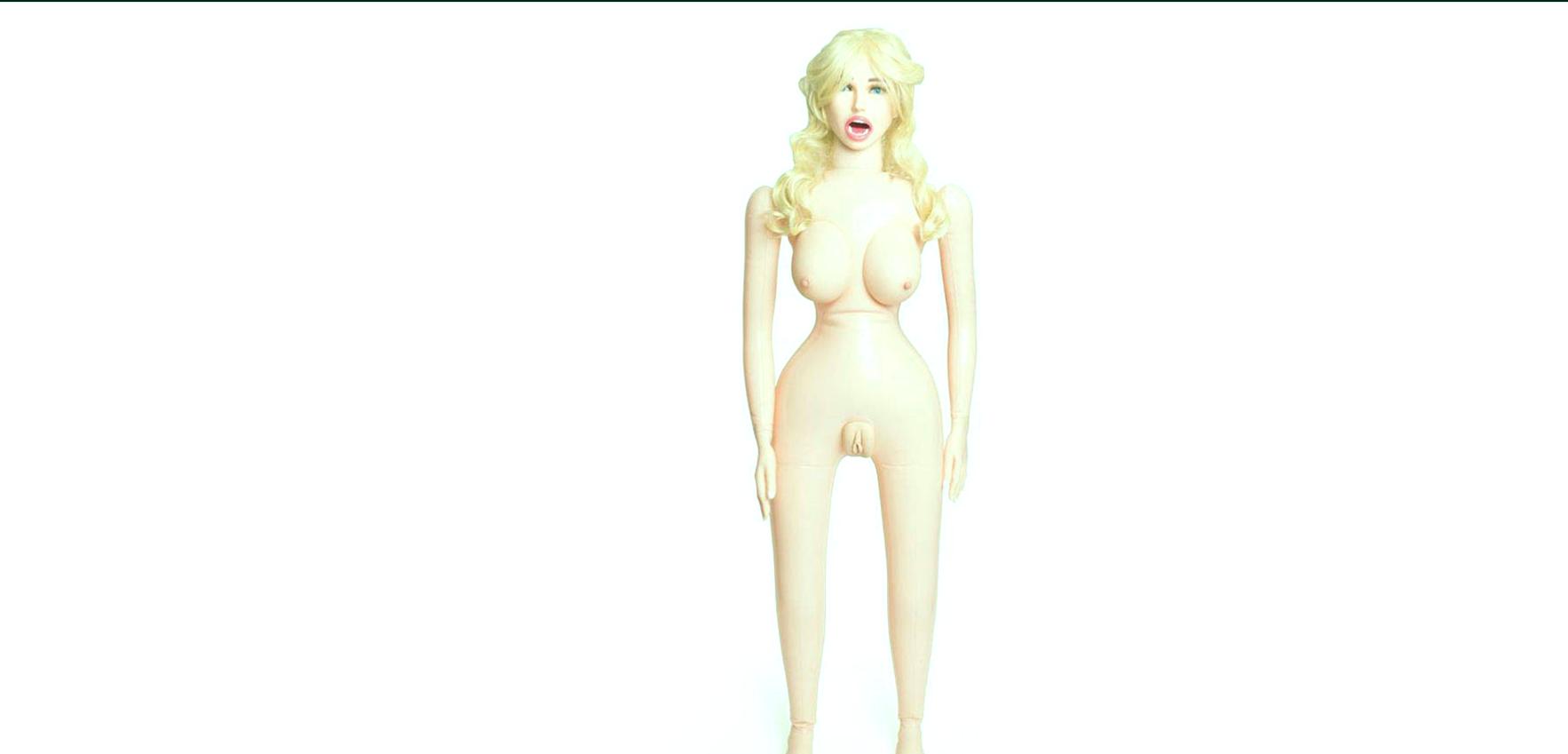Muñeca sexual inflable realista vibrante.