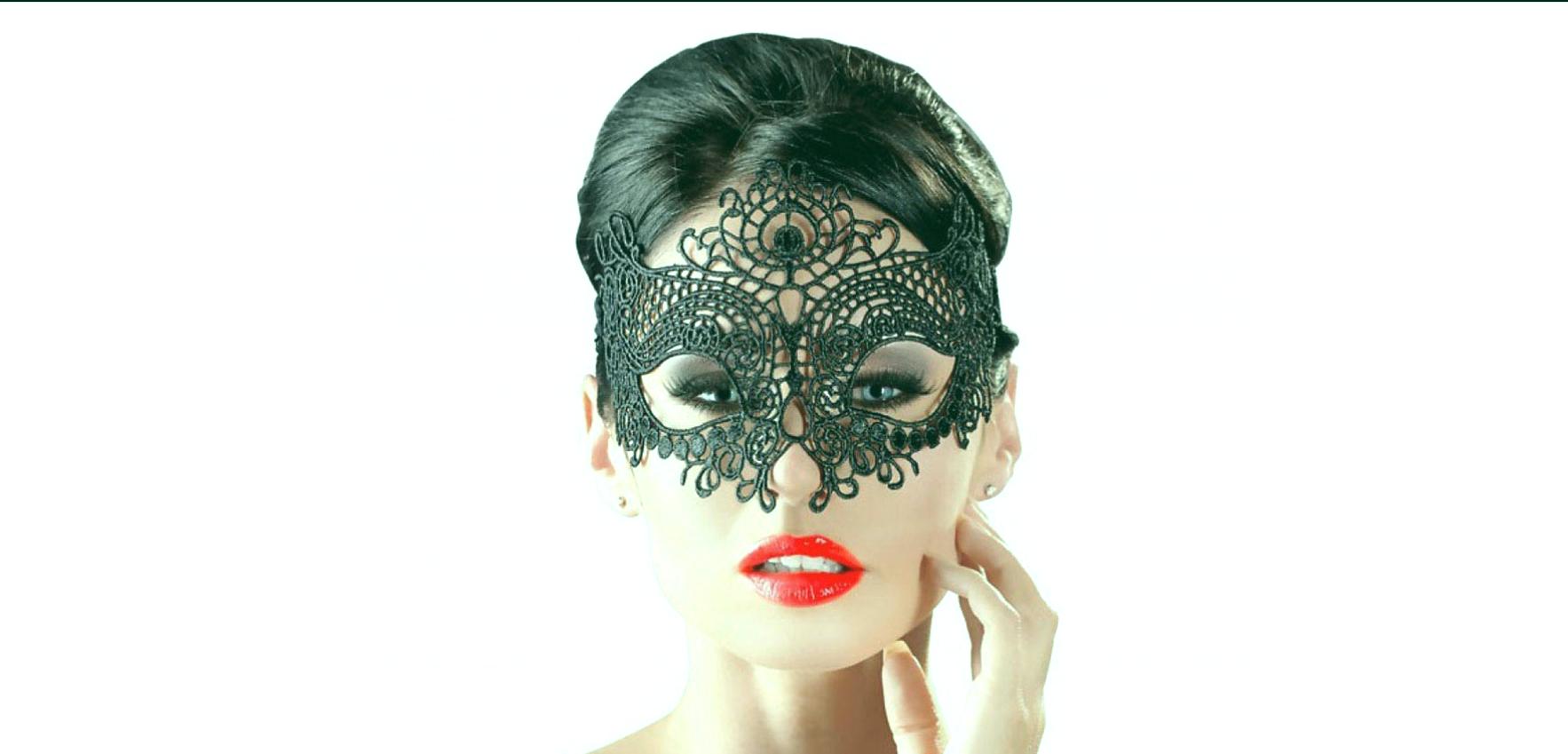 Máscara sexual de encaje.