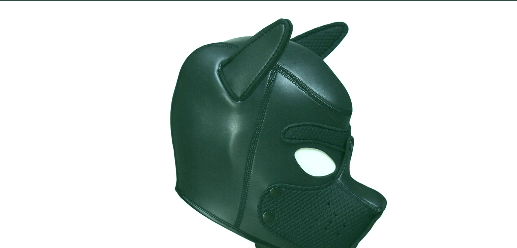 Latex Sex Role Play Dog Mask.