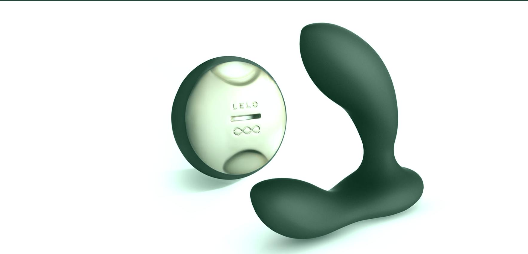 Masajeador de próstata recargable con control remoto SenseMotion de Lelo Hugo.